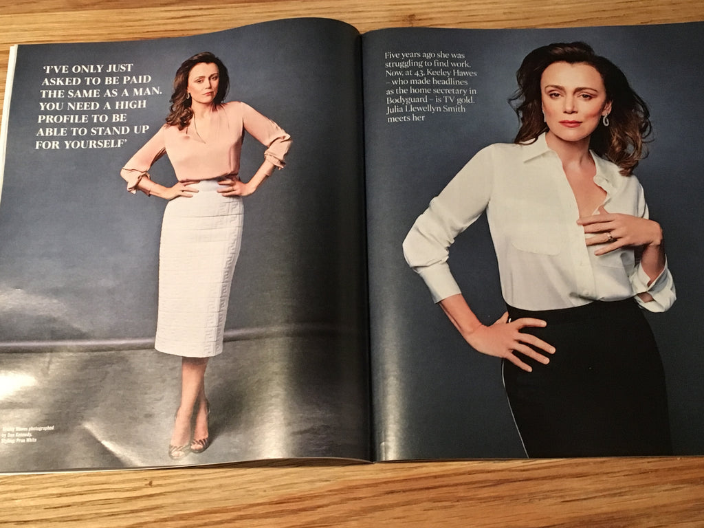 UK Times Magazine April 2019 Keeley Hawes cover & interview
