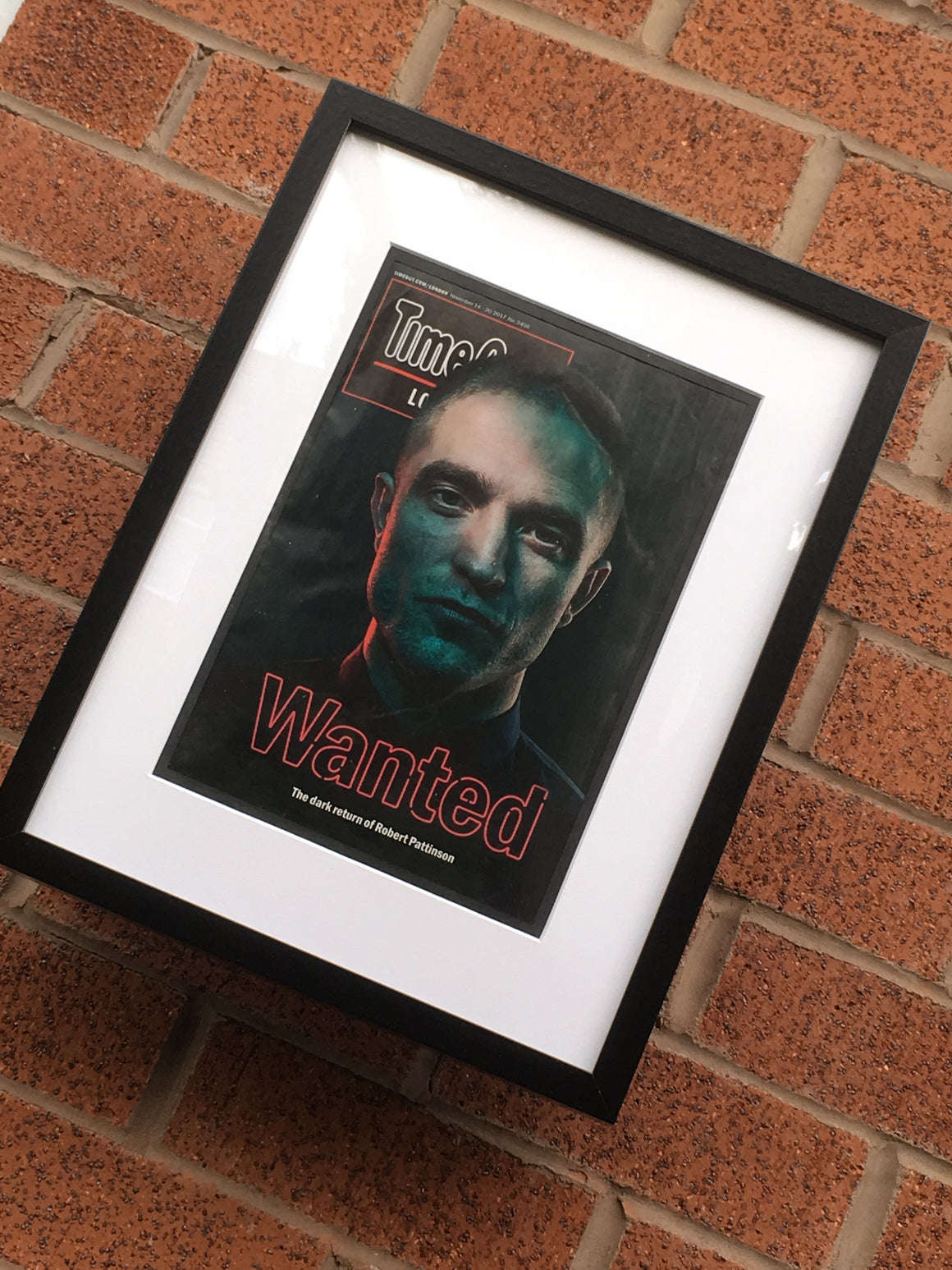 UK Time Out London Magazine: ROBERT PATTINSON Good Time Limited Framed Edition