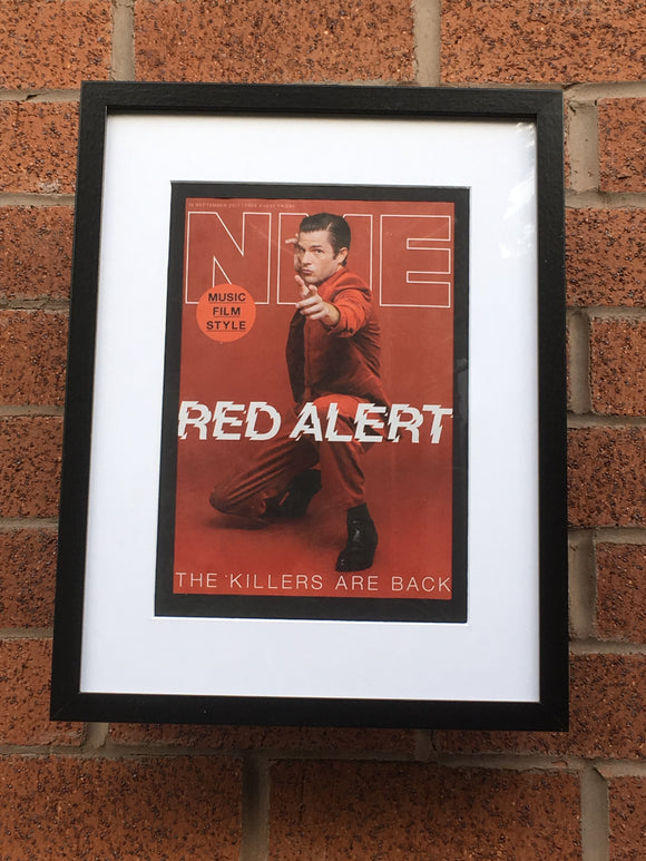 UK NME Magazine 2017: Brandon Flowers The Killers Limited Framed Edition
