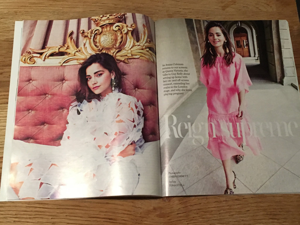UK Stella Magazine April 2019 Jenna Coleman cover & interview