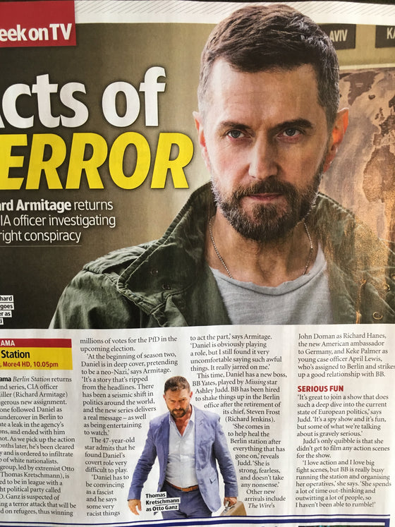 UK TV & Satellite Magazine April 2019: Richard Armitage Interview