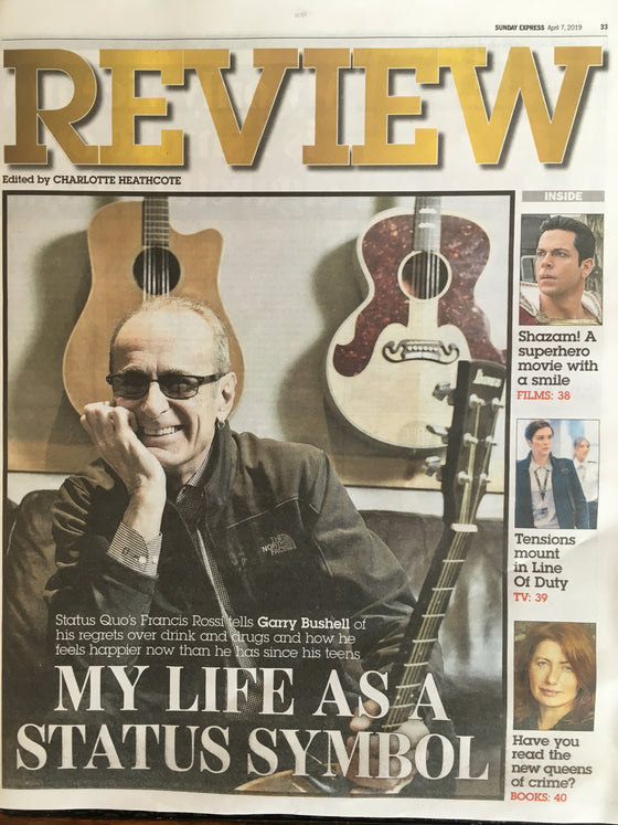 EXPRESS REVIEW supplement April 2019: FRANCIS ROSSI STATUS QUO COVER FEATURE