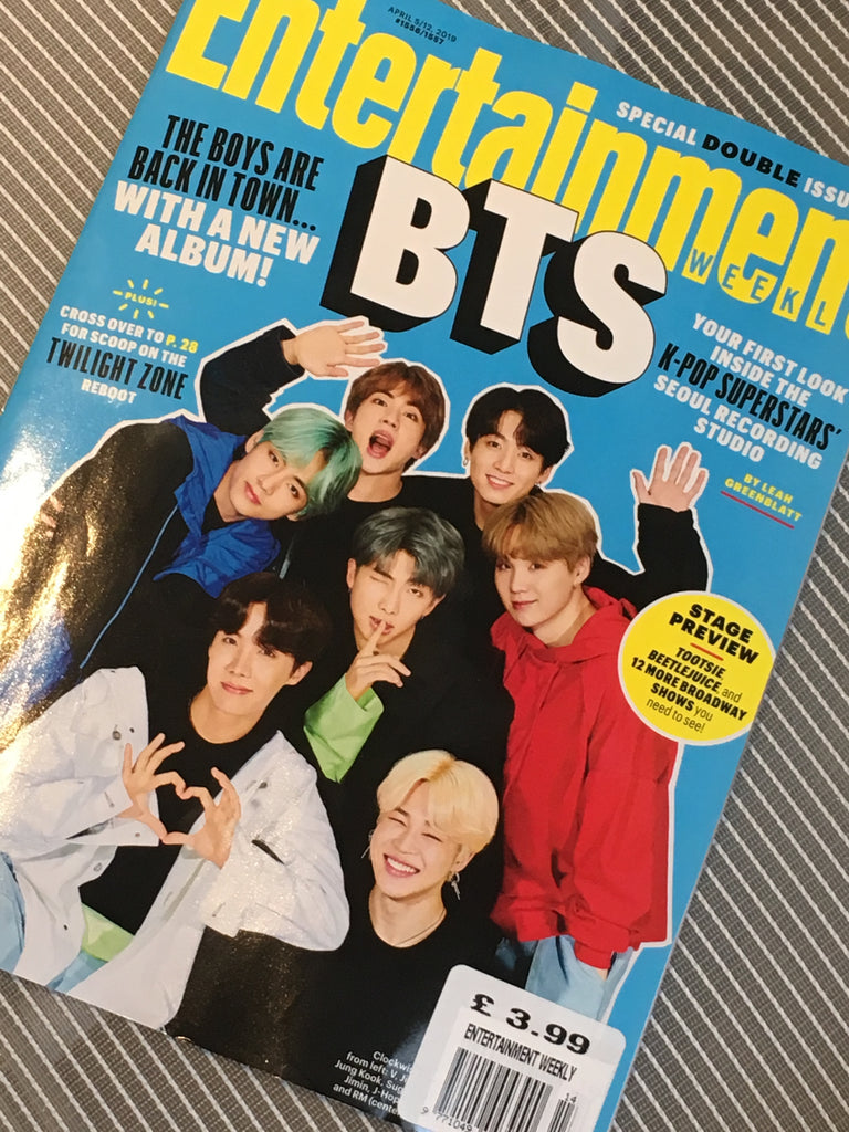 US ENTERTAINMENT WEEKLY MAGAZINE APRIL 5th 2019: BTS COVER STORY