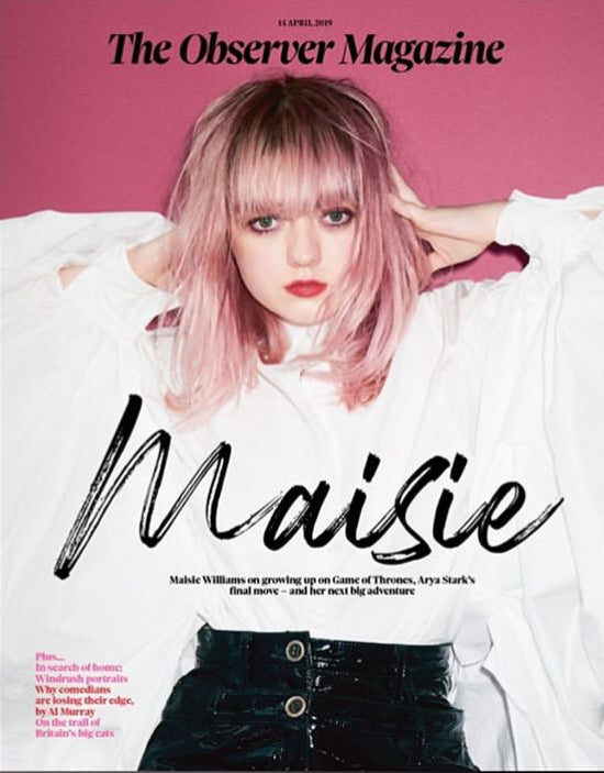 UK OBSERVER magazine April 2019 Maisie Williams cover & interview