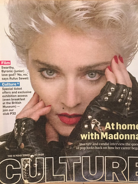 MADONNA 2009 UK Culture Magazine 1986 PROMO PHOTO COVER Interview Rufus Sewell