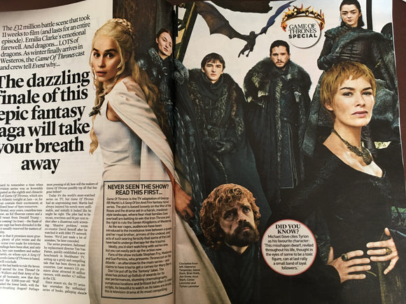 UK EVENT magazine Apr 2019: Game of Thrones Collector's Edition - Emilia Clarke Lena Headey