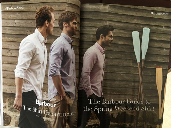 British GQ Magazine May 2019: Sam Heughan for Barbour Menswear