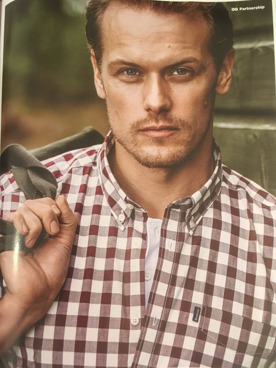 UK GQ Magazine September 2018 Sam Heughan for Barbour