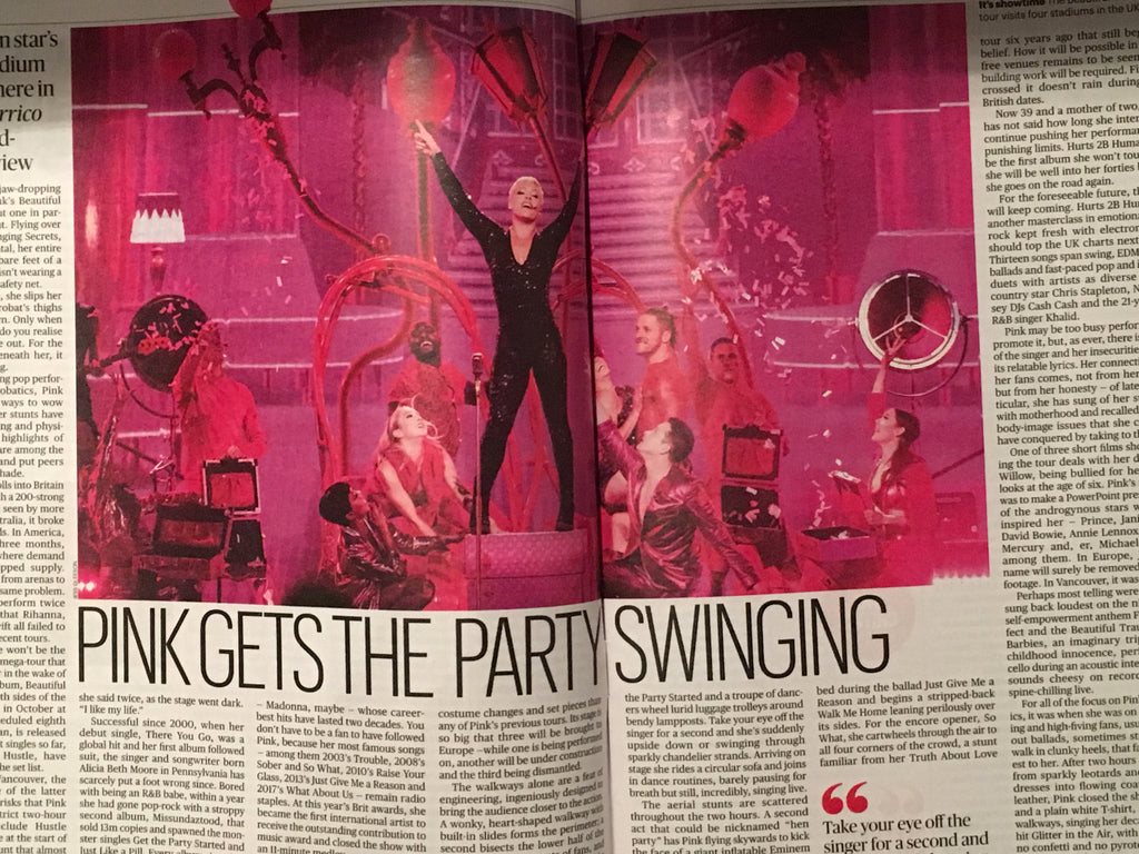 UK CULTURE magazine April 2019: Pink P!NK Alecia Beth Moore Feature MAGGIE SMITH