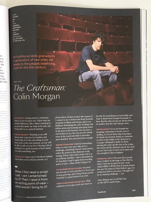 London Jackal Magazine April/May 2019 - Colin Morgan Interview