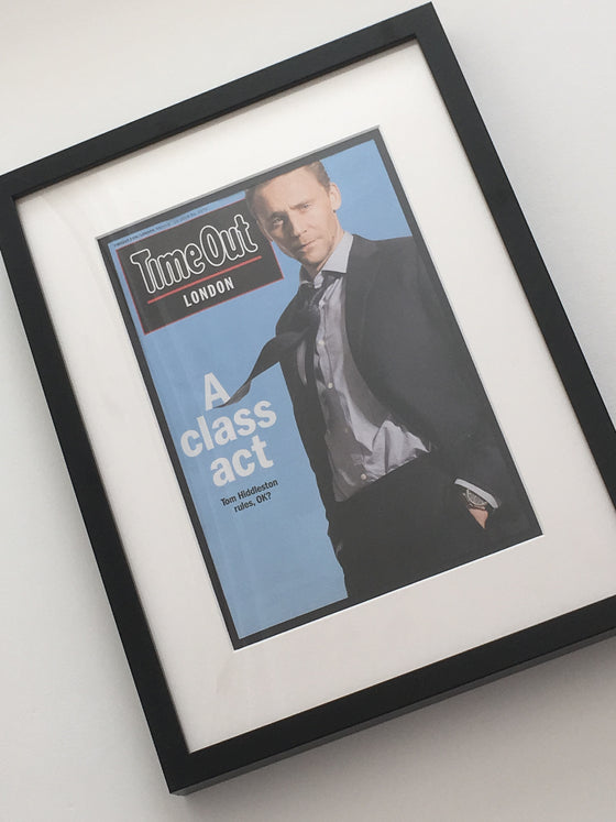 UK Time Out London Magazine: TOM HIDDLESTON Limited Framed Edition