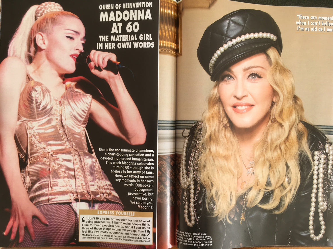 New UK Madonna UK Hello! Magazine August 2018 - The Queen Of Pop At 60