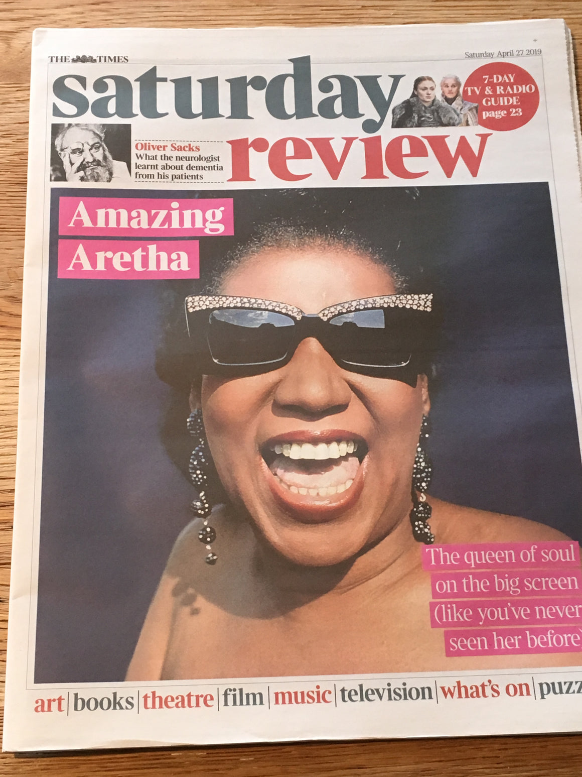 UK Times Saturday Review April 2019: ARETHA FRANKLIN COVER & FEATURE