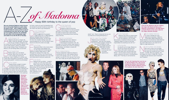 UK Madonna Sunday Express S Magazine Madonna Magic The Queen Of Pop At 60