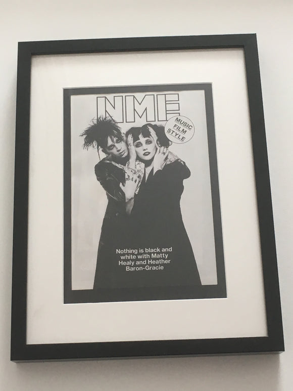 UK NME Magazine 2017:  1975 Matty Healy & Pale Waves Limited Framed Edition