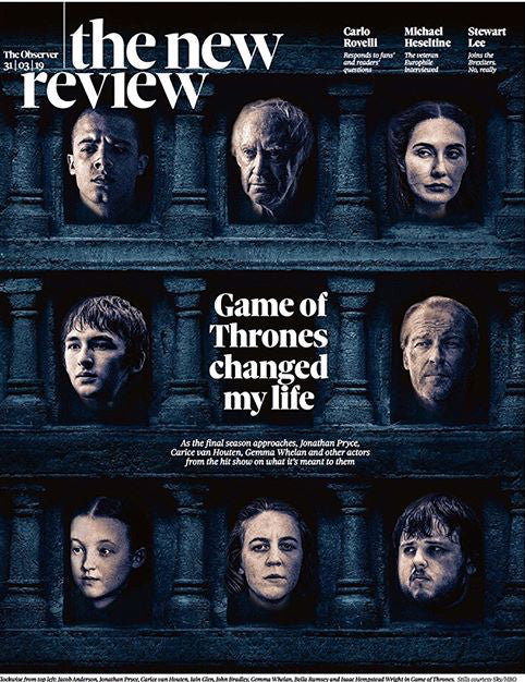UK Observer Review March 2019: GAME OF THRONES Iain Glen CARICE VAN HOUTEN