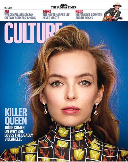UK CULTURE Magazine May 2019: Killing Eve JODIE COMER - Kiefer Sutherland Nicholas Hoult