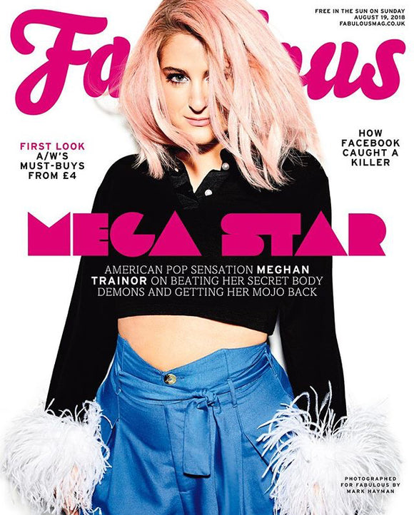 UK Fabulous Magazine August 2018: MEGHAN TRAINOR COVER INTERVIEW