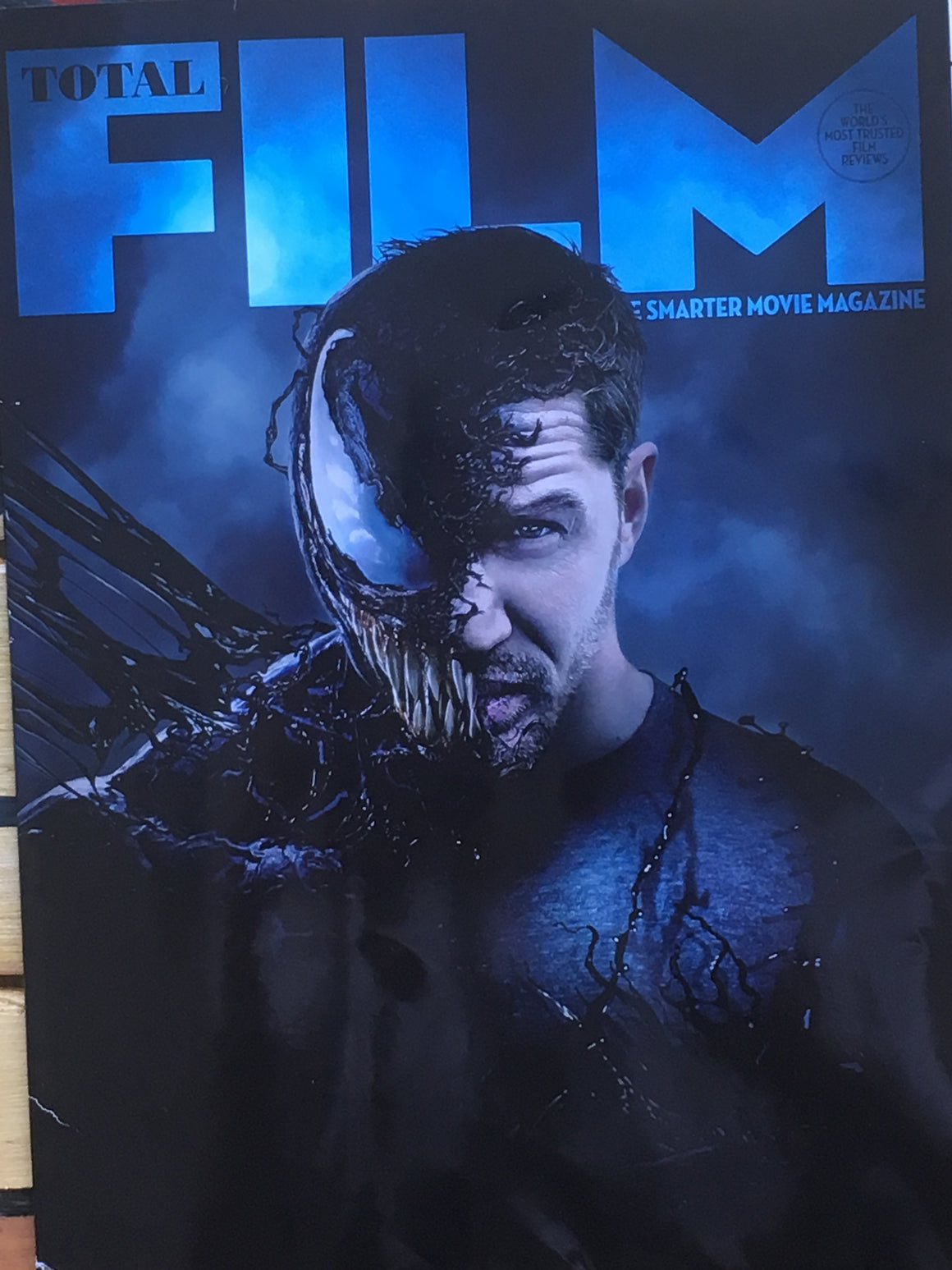UK Total Film Magazine September 2018 Rare Subscribers Cover Tom Hardy New