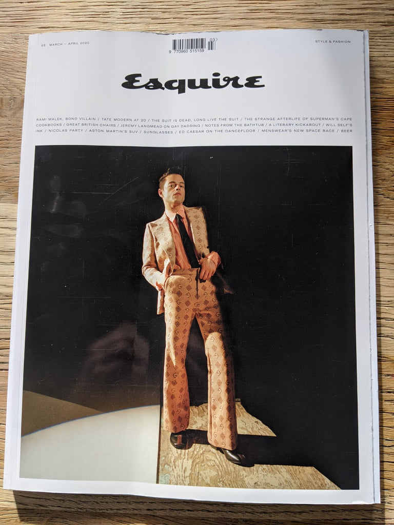 UK Esquire Magazine March 2020: RAMI MALEK COVER FEATURE