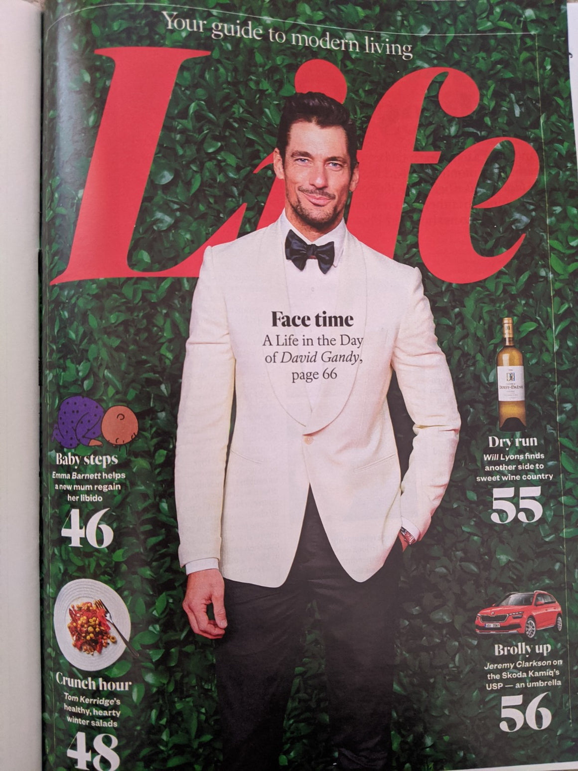 SUNDAY TIMES magazine February 16 2020: DAVID GANDY Andy Gill (Gang of Four)