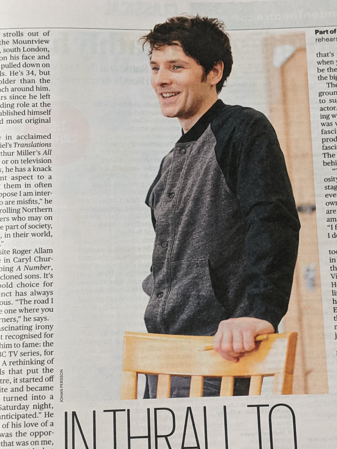 UK Culture Magazine 23 February 2020: Colin Morgan Interview