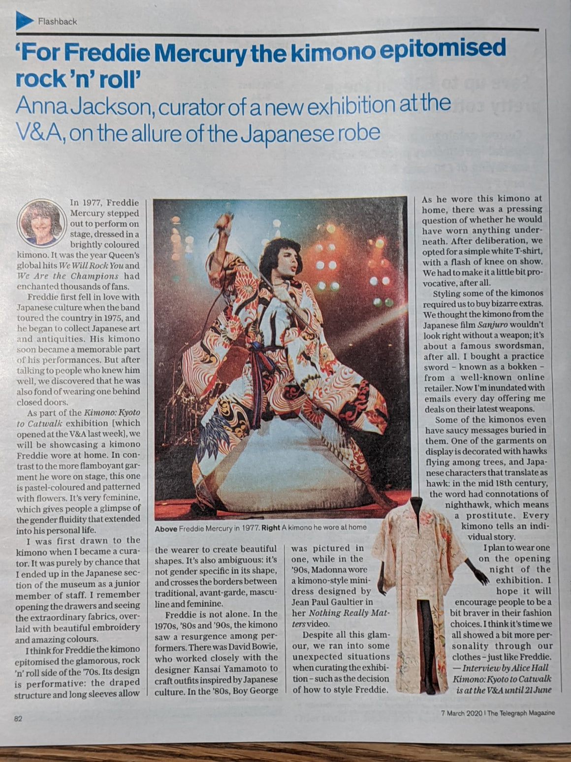 UK Telegraph Magazine 7 March 2020: Freddie Mercury Queen