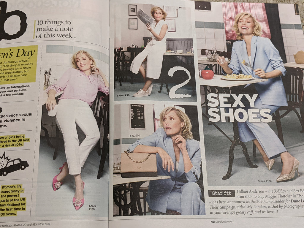 UK Notebook Magazine 8 March 2020: Gillian Anderson