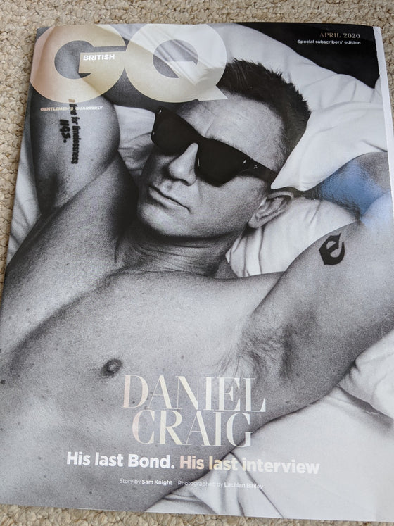 BRITISH GQ MAGAZINE APRIL 2020: DANIEL CRAIG EXCLUSIVE SUBSCRIBERS COVER