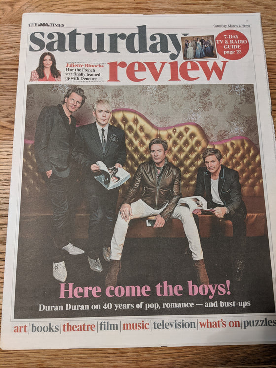 UK Times Review 14th March 2020: Duran Duran Cover Exclusive