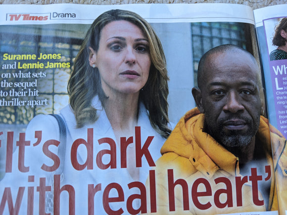 TV Times Magazine 28 March 2020 Suranne Jones Lennie James