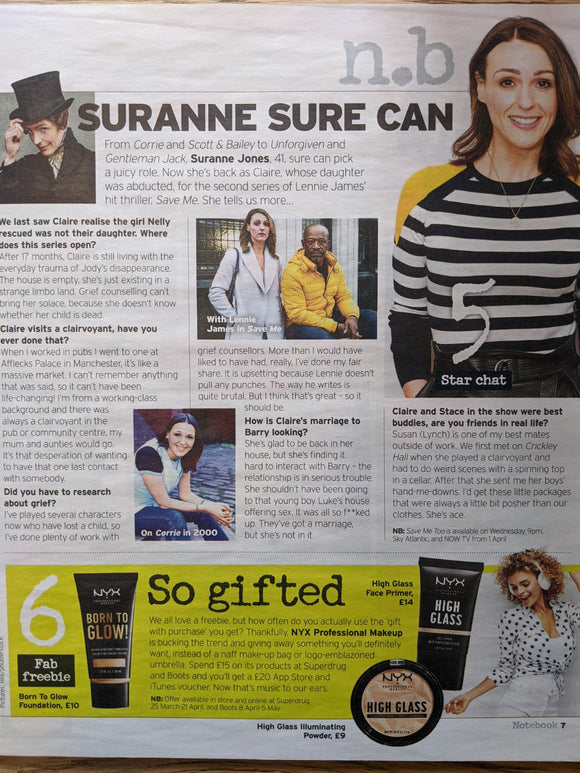 UK Notebook Magazine March 2020: Suranne Jones Interview