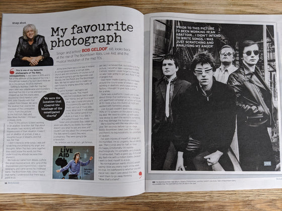 NOTEBOOK Magazine April 2020: BOB GELDOF BOOMTOWN RATS