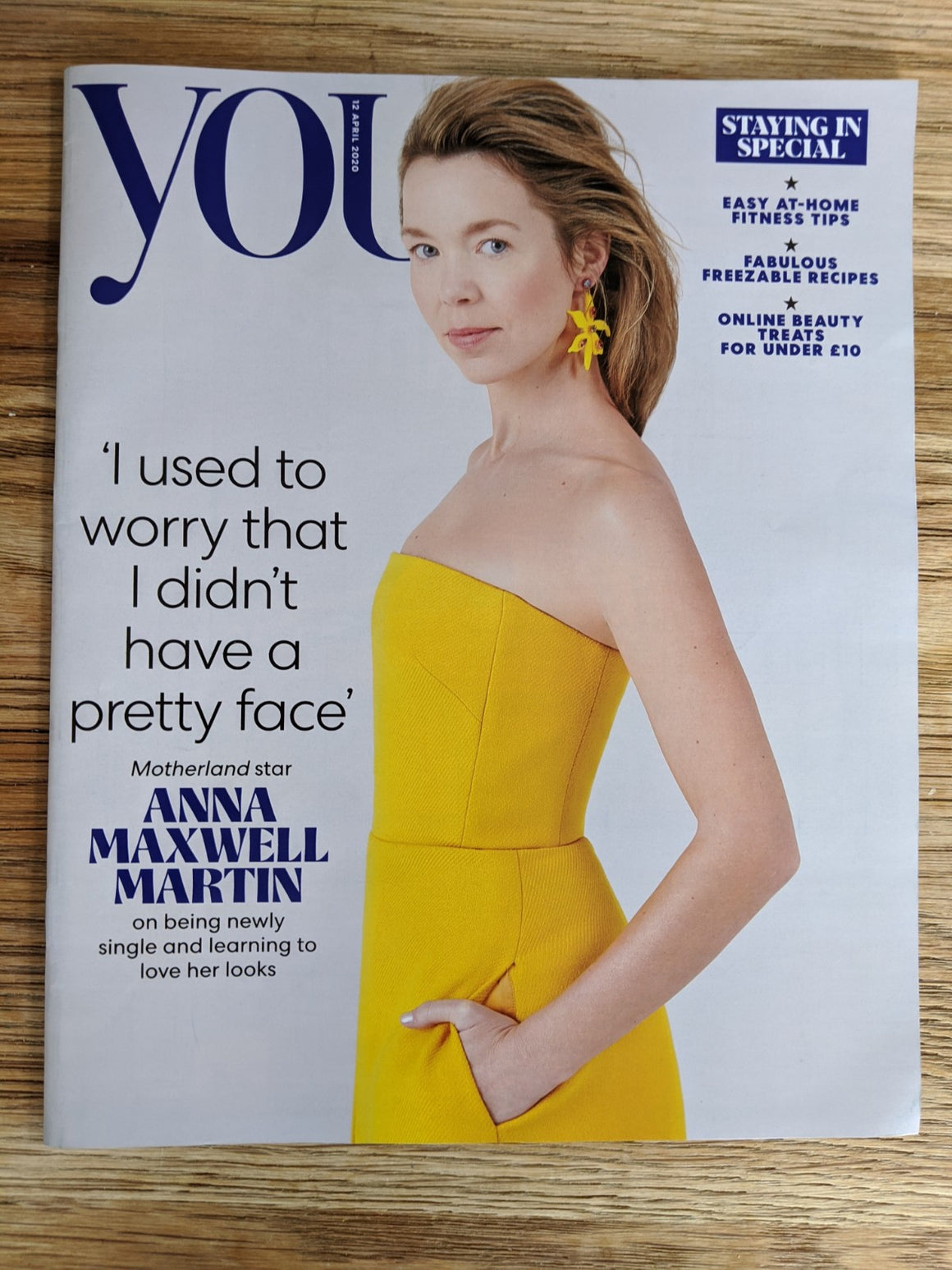 UK YOU Magazine April 2020: ANNA MAXWELL MARTIN COVER FEATURE Good Omens