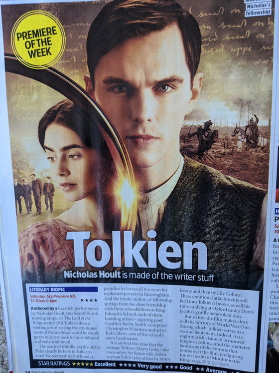TV & Satellite magazine 18 April 2020: CHRIS HEMSWORTH Chris Evans NICHOLAS HOULT