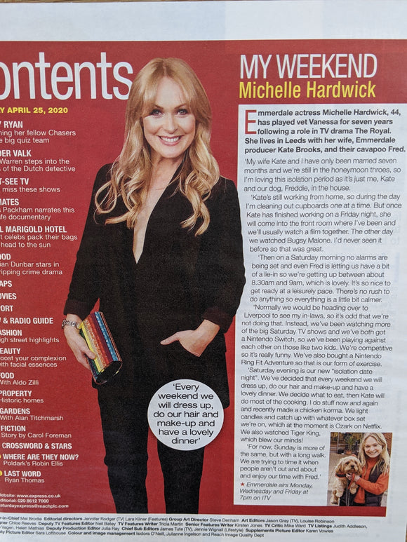 UK Saturday Magazine April 25 2020: Robin Ellis (Poldark) Michelle Hardwick
