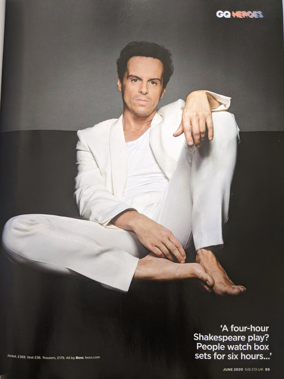 UK GQ Magazine June 2020: Andrew Scott Heroes Interview