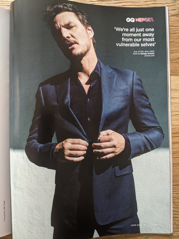 British GQ Magazine June 2020: Pedro Pascal