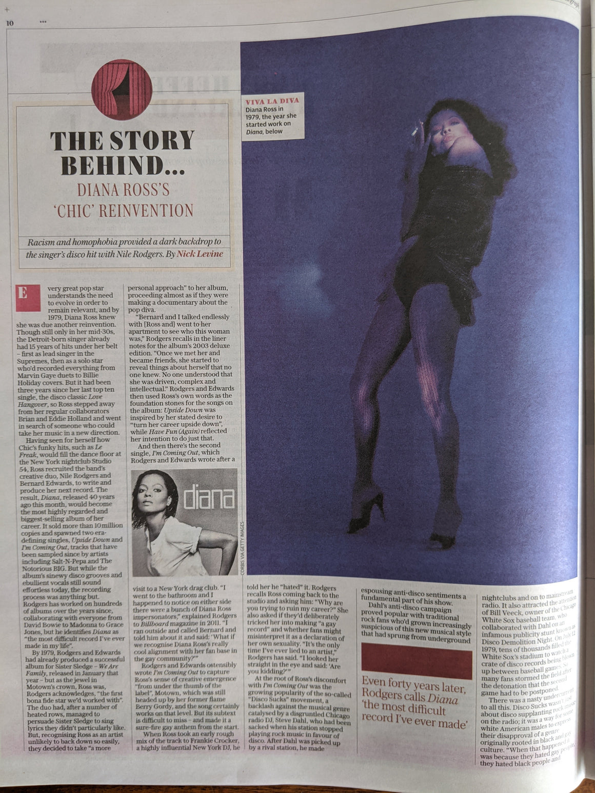 UK Telegraph Review May 2020: DIANA ROSS The Supremes