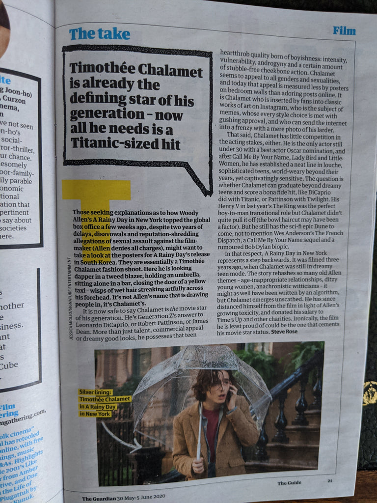 UK Guardian Guide May 2020: KEHLANI Cover Feature - Timothee Chalamet