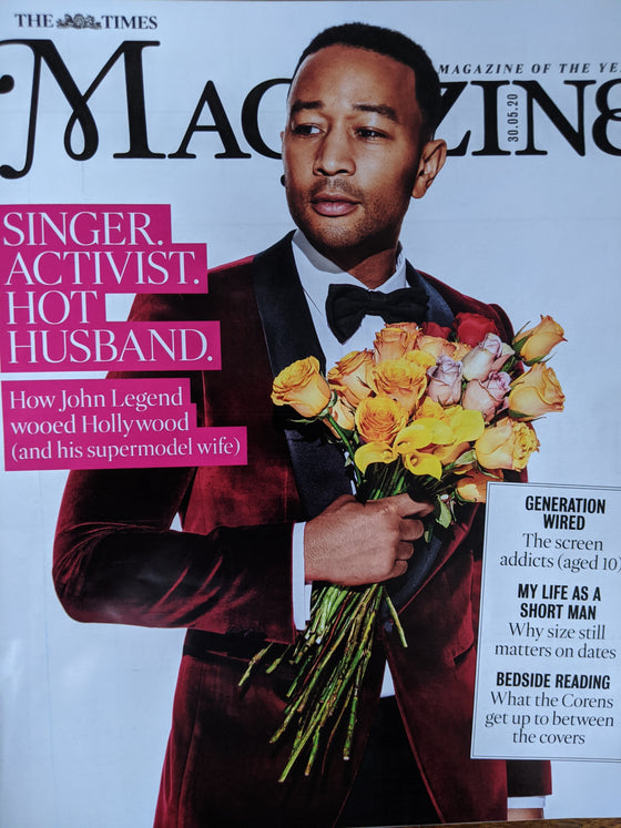 UK TIMES Magazine 30th May 2020: JOHN LEGEND COVER FEATURE