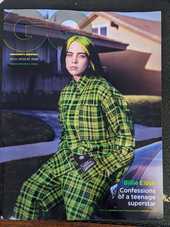 British GQ Magazine July 2020: Billie Eilish Subscribers Cover
