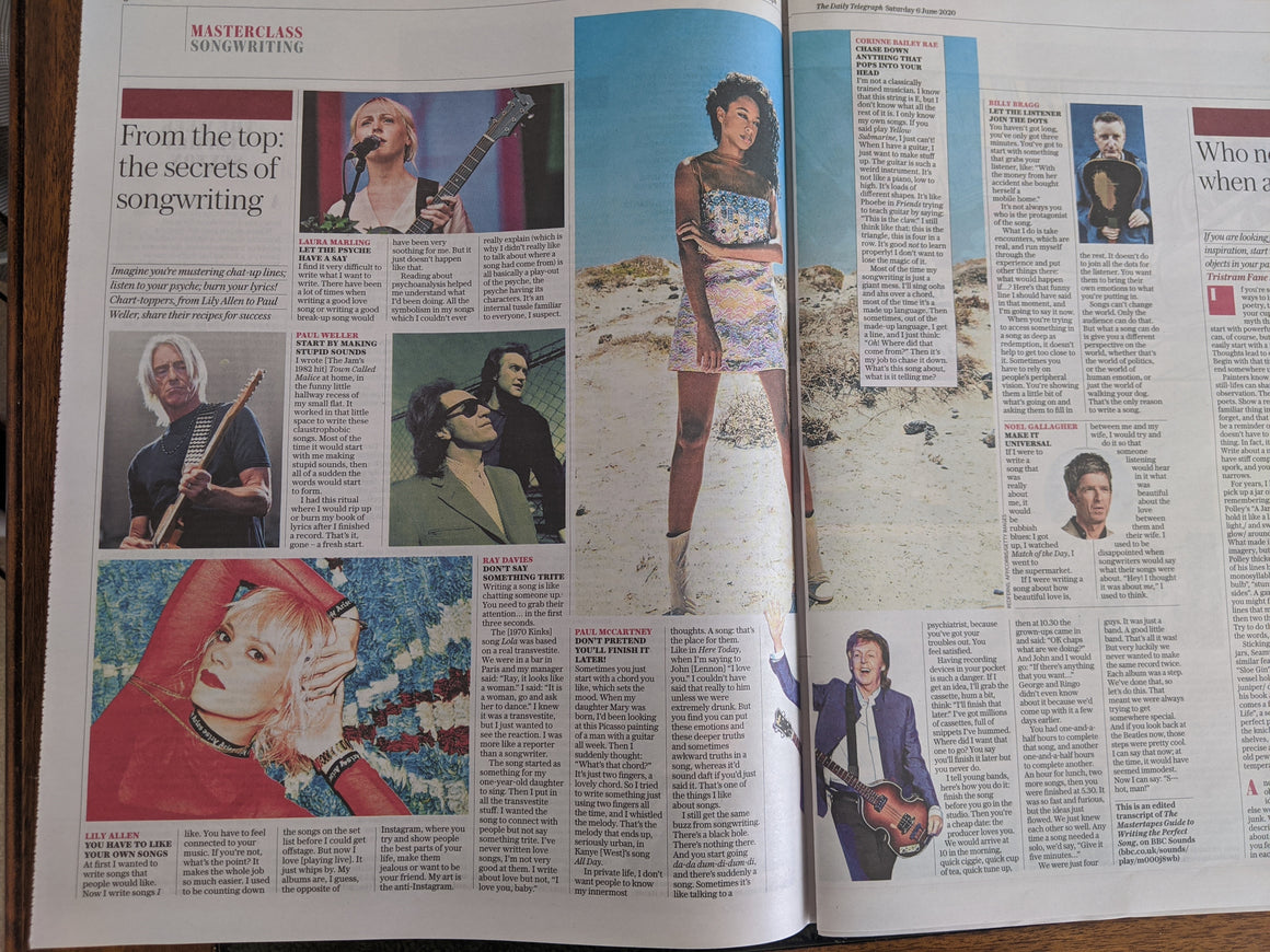 UK Telegraph Review June 2020: PAUL McCartney Paul Weller RAY DAVIES Peggy Lee