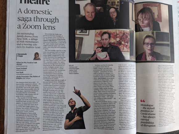 UK OBSERVER NEW REVIEW June 2020: ZOE WANAMAKER Samira Ahmed ANDREW SCOTT