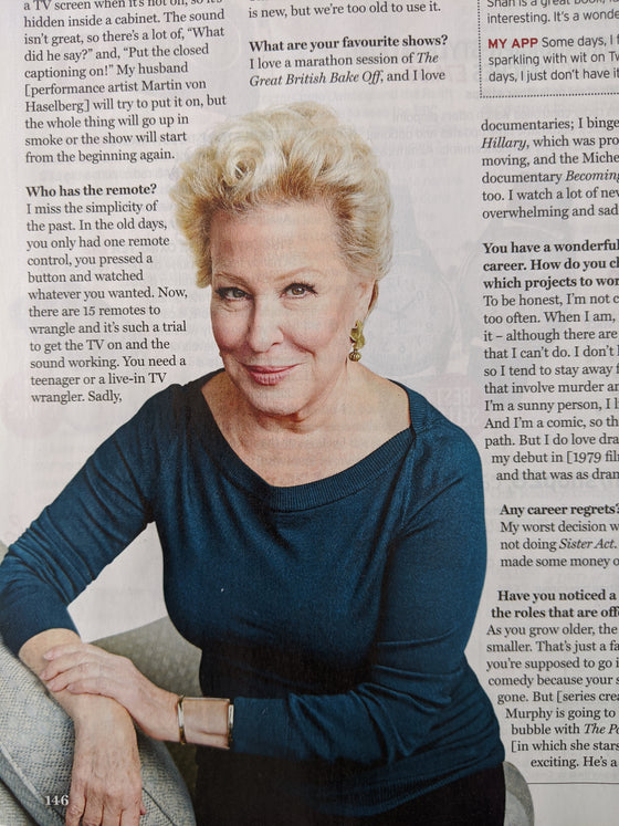 UK Radio Times Magazine 20 June 2020: MATTHEW RHYS Bette Midler HIMESH PATEL Charles Dance