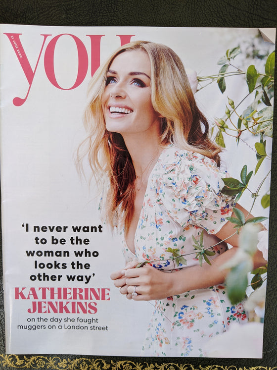 (UK) YOU MAGAZINE June 2020: KATHERINE JENKINS PHOTO COVER INTERVIEW