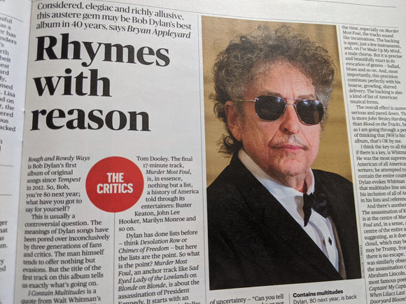 UK Culture Magazine June 2020: SIMON PEGG Bob Dylan YUSUF ISLAM Cat Stevens