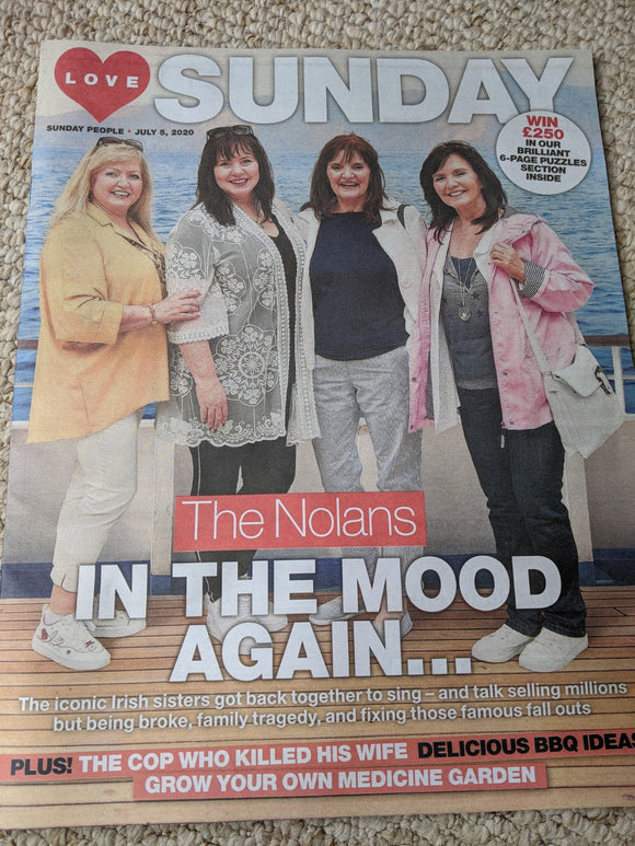 Love Sunday Magazine July 2020 THE NOLANS Cover Feature