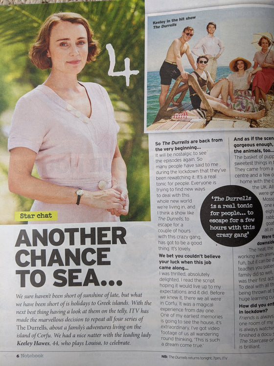 NOTEBOOK Magazine July 2020: KEELEY HAWES interview THE DURRELLS