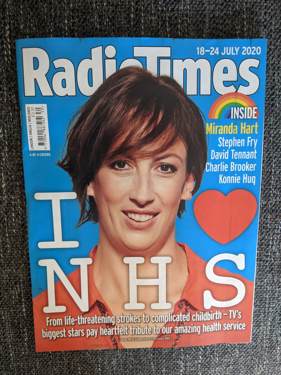 UK Radio Times Magazine 18 July 2020: Miranda Hart (1 of 4 Covers)